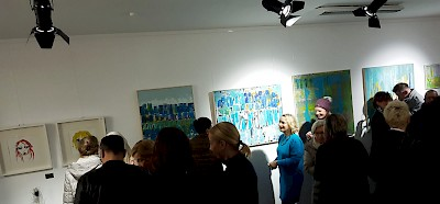 Vernissage in der Galerie Brockmann & Sons, Rheine, Münsterstr. 21